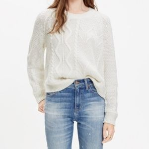 Madewell Block-Stitch Cable Knit Sweater